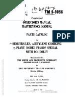 Tm 5-9056 SEMITRAILER ACETYLENE CHARGING PLANT