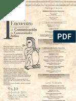 PRIMER ENCUENTRO LATINOAMERICANO DE COMUNICACIÓN DE COMUNIDADES JUDÍAS