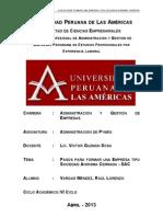 Monografia Pasos Para Constituir Una Empresa SAC