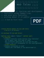 Lisp Web Tales