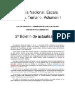 2º Boletin actualizacion PNEB Temario. Volumen I. Ediciones enero y revisada marzo 2012