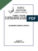 3. GLOSARIO MARCO LÓGICO