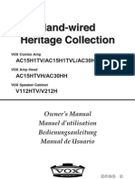 Instrucciones Vox Ac 30 Heritage