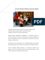Argentina Advierte Que Referendo en Malvinas No Pone Fin a Disputa