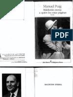 Manuel Puig -  Maldición eterna a quien lea estas páginas