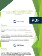 Racismo, Evolucionismo Cultural, Cultura, Etnocentrismo - Maycon Mansur