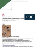G1 - Estudo reforça ideia de que Marte teve rios no passado - notícias em Ciência e Saúde