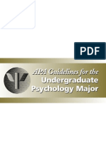 APA Guidelines-Psychology Undergrad