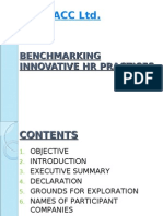 Bench Marking Innovative HR Practices