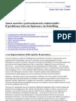 Cusinato Guido - Amor Mortis e Potenziamento Esistenziale - Il Problema Etico in Spinoza e in Schelling