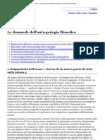 Cusinato Guido - Le Domande Dell'Antropologia Filosofica