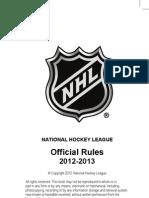 2012 NHL Rulebook Updated