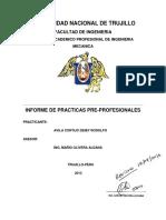 Informe de Practicas - Avila Cortijo