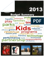 2013 CPD Budget Summary