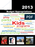 2013 CPD Budget Appropriations