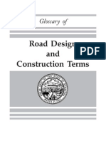 Road design and construction terms