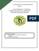 informe d la practica Nº 01 de relacion suelo agua planta