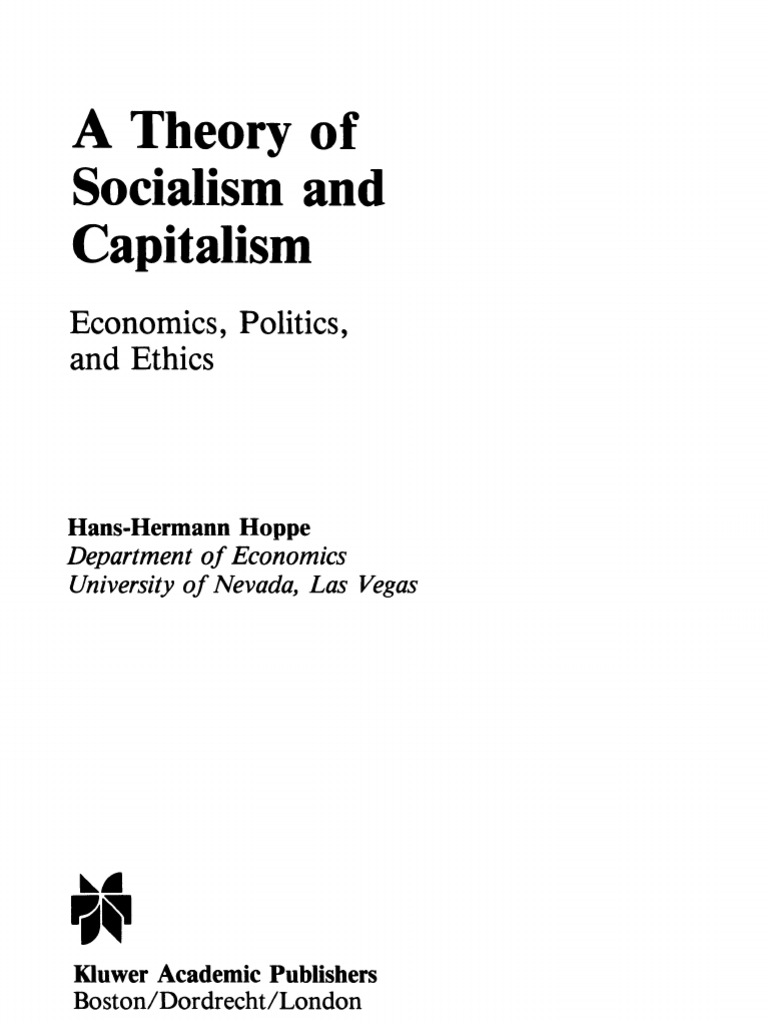 Capitalism and Socialism in Theory and Practice