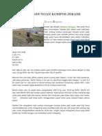 Analisa Kandungan Kompos Jerami Padi