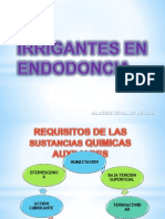 Irrigantes en Endodoncia
