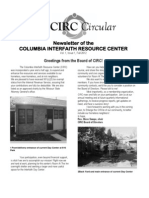 CIRC Newsletter Vol 1 Newsletter of the Columbia Interfaith Resource Center