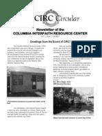 CIRC Newsletter Vol 1 Newsletter of the Columbia Interfaith Resource Center