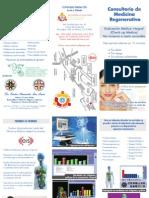 Folleto Triptico Centro Medico de Terapia Celular Medicina Regenerativa 130524