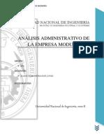 Analisis Administrativo - Empresa Modul-Plac