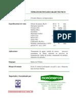 Nitrato de Potasio Grado Tecnico (Ft)