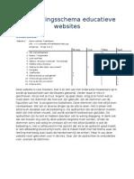 Beoordelingsschema Educatieve Websites 3