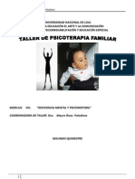 Taller Psicoterapia Familiar