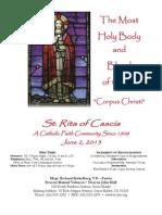 St. Rita Bulletin 6/2/2013