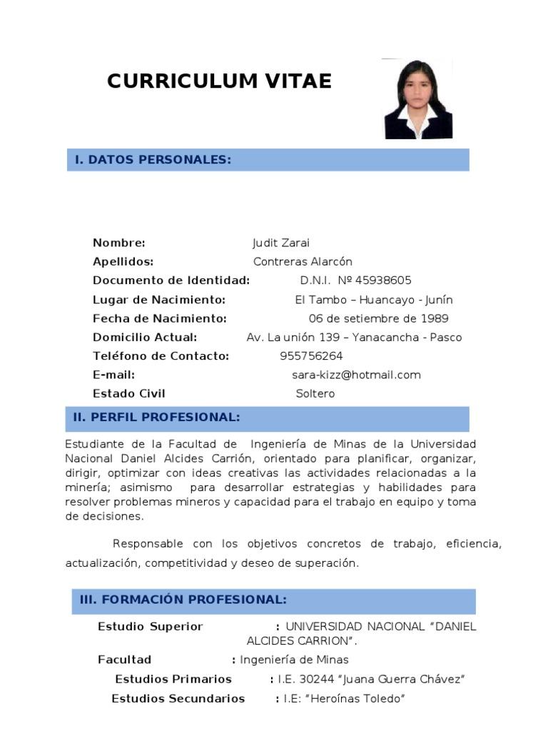 Dorable Curriculum Vitae Lista De Habilidades Pdf Galería - Ejemplo ...