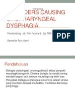 oropharyngeal disfagia