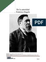 Federico Engels, De La Autoridad