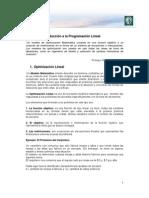 Lectura 2 - Programación Lineal