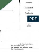Jean Beaufret, Holderlin Et Sophocle