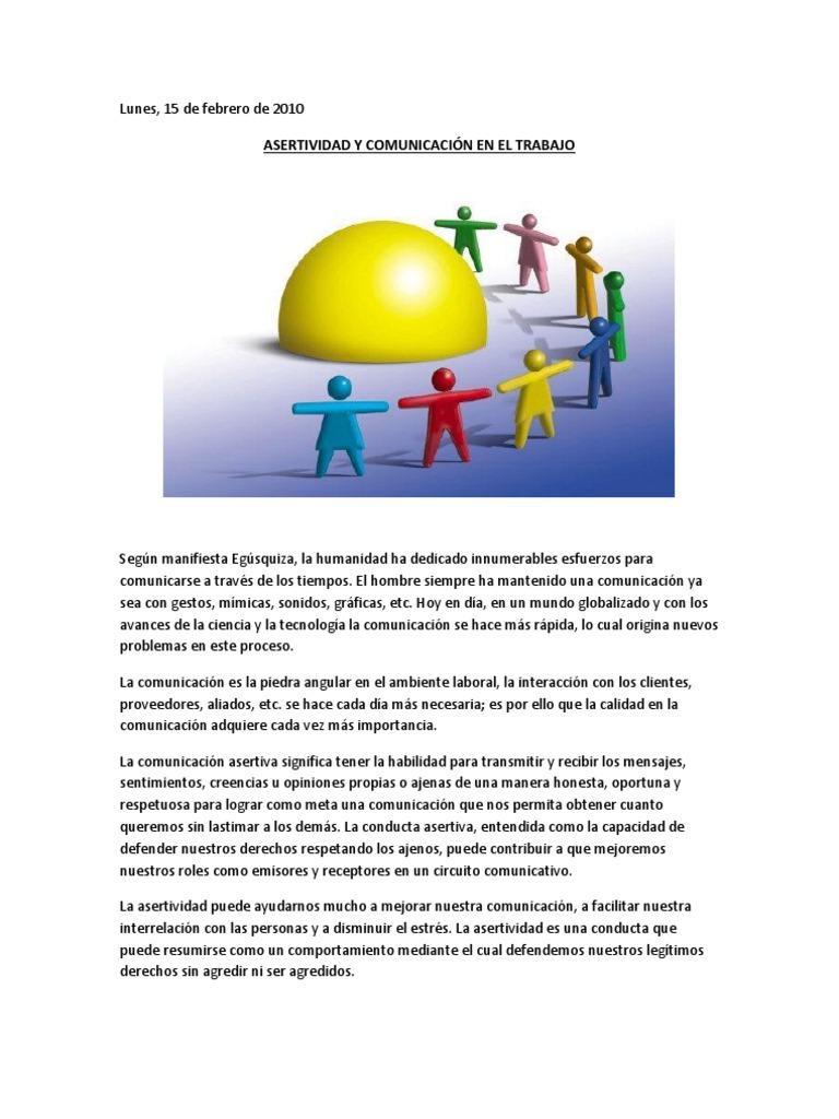 Circuito Comunicativo : Comunicación asertiva