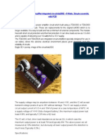 Circuit Power Audio Amplifier Integrated Circuit Tda2002
