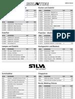 Preisliste Winter 2009-2010 Silva, Gerber und Brunton