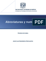 Abreviaturas y Numerales