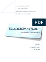 EDUCACIÓN POSTMODERNA