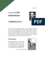 Eco Umberto - Critica Del Periodismo
