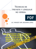 Técnicas de entrevista y lenguaje no verbal CRIM
