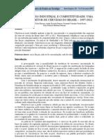 Concentração industrial e competitividade uma análise do setor de cervejas do brasil – 1997-2012