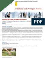Tarifa Plana para Jóvenes autónomos