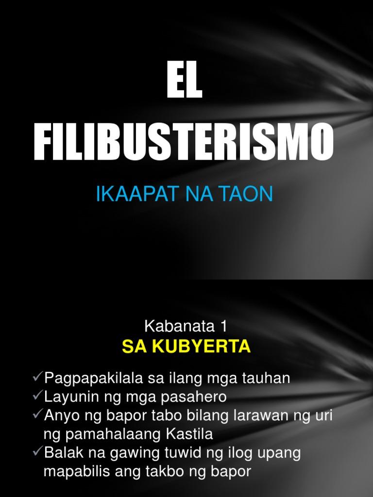 EL Filibusterismo: Ikaapat Na Taon