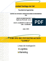 GRUPO INVESTIGACION LOMA Informe Junio 2013- Alvaro Mina Investigador