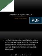 140057890 Diferencia de Cuadrados Pptx