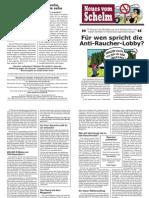 Schelm - Für wen spricht die Antiraucherlobby?